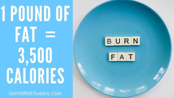 1 Pound Of Fat = 3,500 Calories